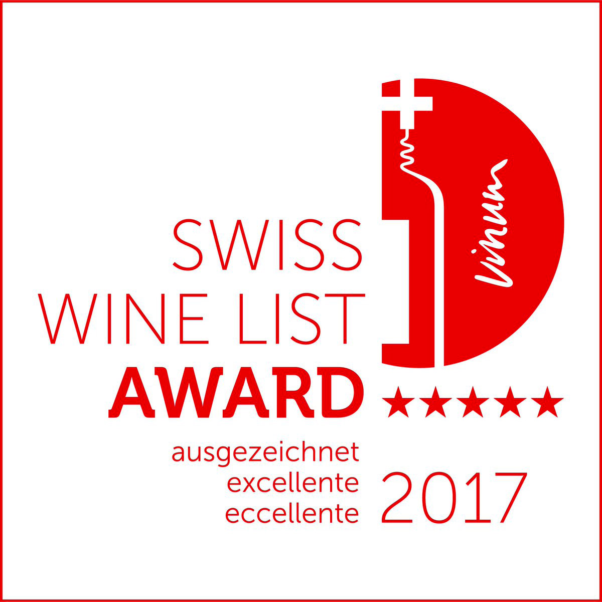 wine list award 2017